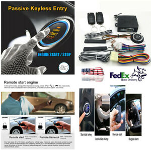New Universal Pke Keyless Entry Remote Engine Start Push Button Car Alarm System