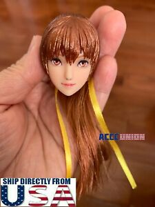 1 6 Kasumi OB Female Head Sculpt Ponytail Hair For 12quot; PHICEN TBL UD Figure USA $59.99