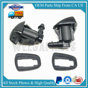 2pc Windshield Wiper Water Spray Jet Washer Nozzle For Toyota Sienna 85381 Ae020