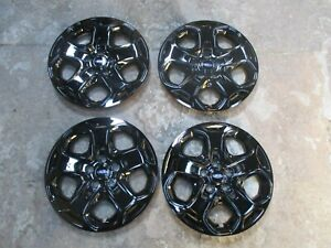 Set Of 4 Brand New 2010 2011 2012 Fusion 17 Wheel Covers Hubcaps Black 7052