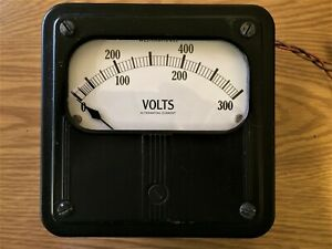 Vintage Large Westinghouse 300 600 Volt Ac Meter Panel Mount 4215 Usa