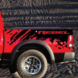 Dodge Ram Rebel Splash Grunge Logo Truck Vinyl Decal Bed Graphic Reflective Camo