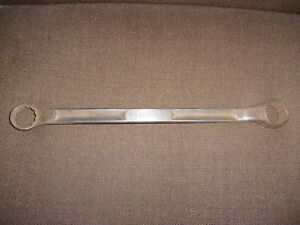 Vintage Snap on Box End Wrench 1 1 16 1 1 8 Gxv 3436 Icrr 1960