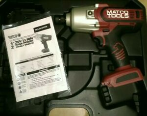 New Matco Infinium Tools 1 2 Impact Wrench Red Mcl2012hpiw 1300ft Lbs 20v Gun