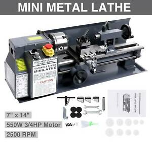 Mini Metal Lathe Bed 550w W Heat treated Lathe Bed Variable Speed 0 2500 Rpm