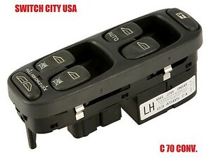 Volvo C70 Coupe Convertible Driver Master Power Window Switch 8628966