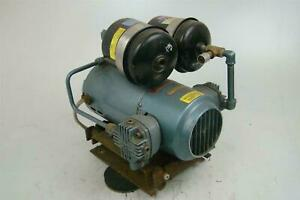 Gast 1 2hp Air Compressor 50psi 3 1 Cfm 1725rpm 200v 3ph 3lba 22 m410x