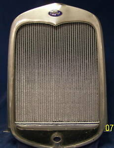 1930 1931 Model A Aluminum Radiator With Ford V 8 Motor