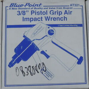 New Blue Point 3 8 Drive At321 Pistol Grip Air Impact Wrench