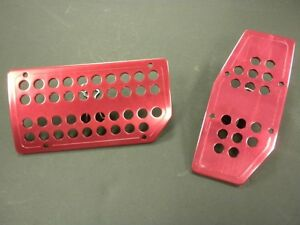 Universal Pedal Cover Anodized Red Automatic 2pcs set