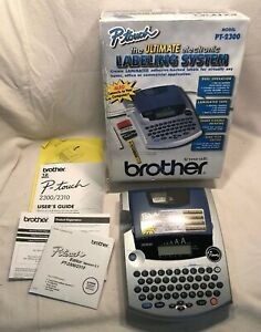 Brother P touch Pt 2300 Ultimate Electronic Labeling System Maker W box