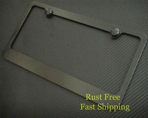 Plain Black B Metal License Plate Frame Rust Free For Nissan Mitsubishi Subaru