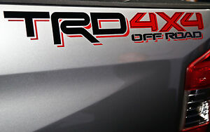 Trd 4x4 Off Road Decals Toyota Tacoma Tundra Vinyl Stickers Graphix Logos X 2