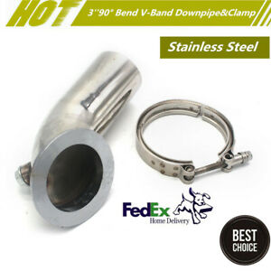 3 Stainless Auto Car Exhaust V band Downpipe Elbow For Turbo Merkur Xr4ti Hy35w