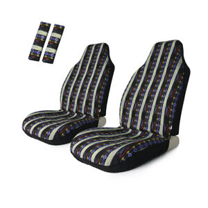 Universal Front Seat Cover Baja Bucket Stripe Colorful Pad Protect For Car Suv