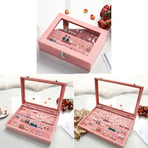 3 Velvet Earrings Storage Display Case Holder Hanger Organizer Jewellery Box
