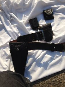 Vintage Don Hume B101 Police Belt W Bianchi Break Front Holster And Holders 34