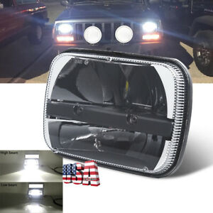 Cree 5x7 7x6 Led Projector Headlight Hi Lo Bean For Jeep Cherokee Xj Yj H6014