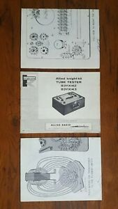 Allied Radio Knight Kit Tube Tester Owners Manual 83yx142 83yx143