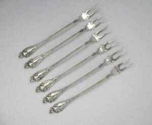 1 Watson Newell Sterling Cherub Cocktail Fork 5 3 4 L 6 Available