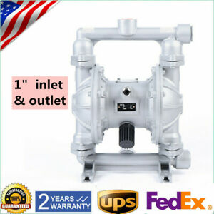 Air operated Double Diaphragm Pump 24 Gpm 1in Inlet Outlet 115 Psi