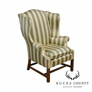 Baker Vintage Chippendale Style Wing Chair