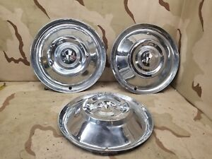 3 1940 1960 Lyon s Aftermarket Wheel Hub Caps Ford Chevy Buick Oldsmobile 15