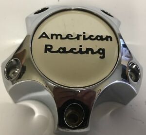 One Used American Racing Chrome 6193 1215 cap Custom Wheel Center Rim Cap 2551