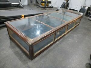 Antique Show Case Curio Jewelry Display Case Glass And Oak Wood