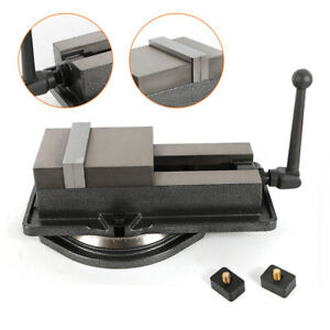 Newly 5 Inch Milling Machine Lockdown Vise Swivel Hardened With 360 Base Sale