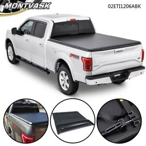 For 2009 2014 Ford F 150 Truck 6 5ft Soft Lock Four Fold Bed Tonneau Cover