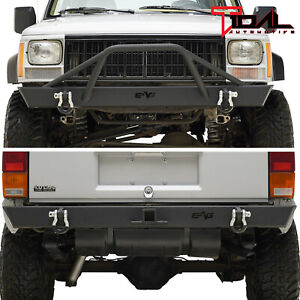 Tidal Fit For 84 01 Jeep Cherokee Xj Off Road Front Bumper And Rear Bumper