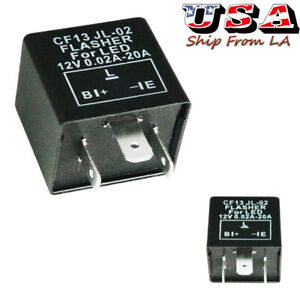 3 Pin Car Flasher Relay Fix Led Light Turn Signal Hyper Flash Cf13 Cf13jl Ep34