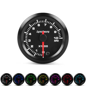 2 52mm 7 Color Led Car Pointer Tachometer Tacho Gauge Meter 0 10 Rpm Smoke Face