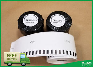 Labels123 Brand Fits Brother 2205 Continuous Feed Labels Thermal 2 4 X 100 Feet