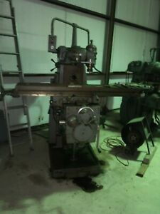 Kearney Trecker Horizontal Mill 307 s12 With Vertical Milling Head Attachment