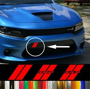 Dodge Charger Hash Marks Front Bumper Decal Hellcat Daytona Scat Pack