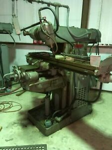 2ch Kearney Trecker Horizontal Mill With Vertical Milling Head Attachment