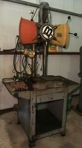 Burgmaster 1d Six Spindle Turret Drill On Base