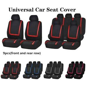 Universal Car Seat Covers Front Rear Head Rests Full Set Auto Four Seasons Seat