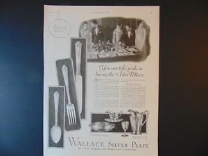 1926 Wallace Silverplate Astor Pattern Art Print Ad
