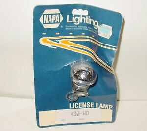 Vintage Napa Signal Stat 430wd 1 5 Round License Plate Light Lamps Hooded Nos