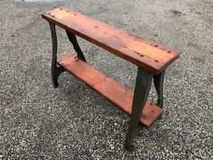 Vintage Delta Gap Bed Cast Iron Lathe Legs Stand Bench Table Industrial 46 111