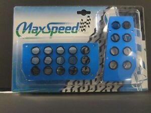 Maxspeed Universal Pedal Cover 06 Ms03abl Blue Automatic 2pcs Set