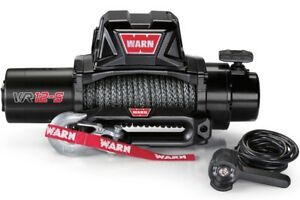 Warn 97035 Vr12s 12000lb Winch 12v Hawse Fairlead 90 3 8 Synthetic Rope