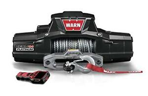 Warn 95960 Zeon 12s 12000 Lb Ultimate Platinum Series Winch 80 Synthetic Rope
