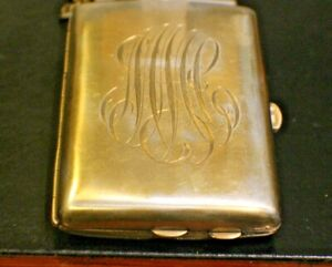 Purse Sterling Silver 18k Gold Plated Inserts Vintage Ladies Purse