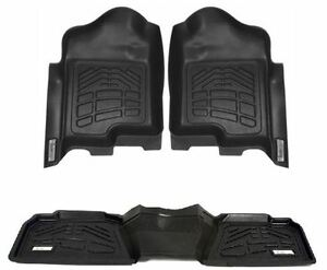 Combo Front 2nd Row Sure Fit Floor Mats 2007 2013 Jeep Wrangler Unlimited