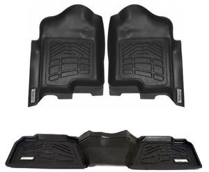 Combo Front 2nd Row Sure fit Floor Mats 2009 2011 Dodge Ram 1500 Quad Cab