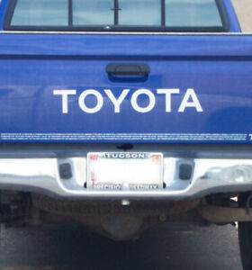 Toyota White Tailgate For Tacoma Pick Up Decals Vinyl Stickers Truck Bed